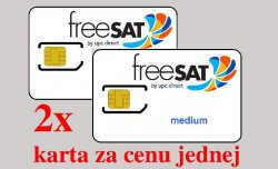 freeSAT medium karta + twin 9,75€/mesačne